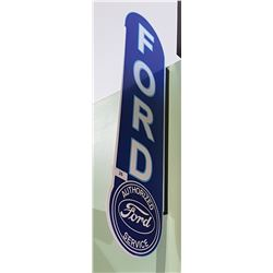 FORD AUTHORIZED SERVICE DOUBLE SIDED TIN FLANGE SIGN