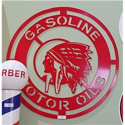 GASOLINE & MOTOR OILS SIGN