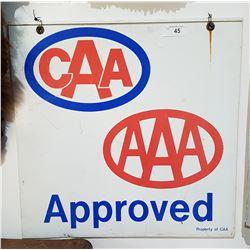 ORIGINAL CAA & AAA APPROVED METAL SIGN