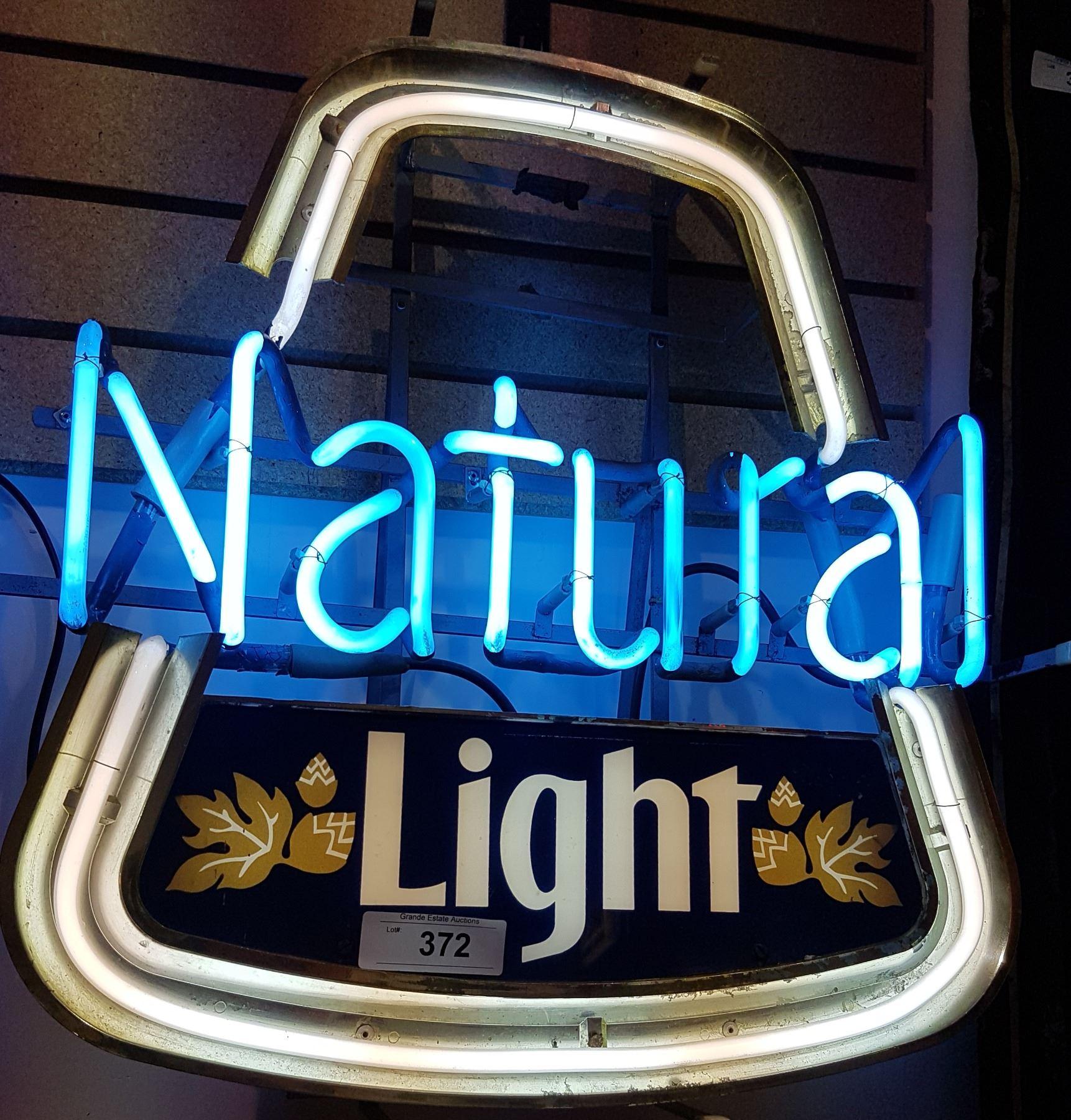 0cf378d76f86 Image 1   NATURAL LIGHT BEER NEON SIGN. SOLD