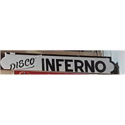 DISCO INFERNO LIGHT UP SIGN