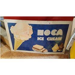 ORIGINAL NOCA ICE CREAM SIGN