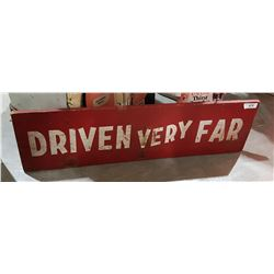 VINTAGE BURMA SHAVE WOOD DOUBLE SIDED SIGN