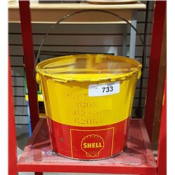 SHELL GREASE PAIL W/LID