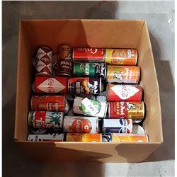 BOX MISC VINTAGE POP CANS