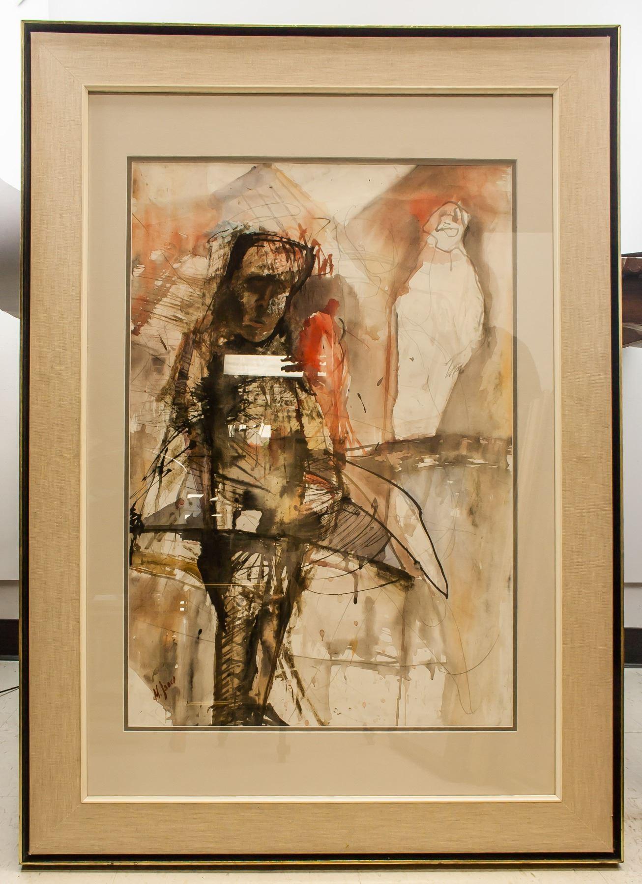 Marcel Janco Romanian/Israeli 1895-1984 Watercolor