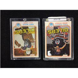1981-82 O-PEE-CHEE PAUL COFFEY & ANDY MOOG HOCKEY CARD LOT