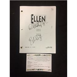 ELLEN TV SHOW FINAL DRAFT SCRIPT AUTOGRAPHED BY ELLEN DEGENERES & DAVE HIGGINS (1994) W/ COA