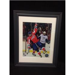 ALEXANDER OVECHKIN AUTOGRAPHED 11  X 14  FRAMED PHOTO (WASHINGTON CAPITALS)