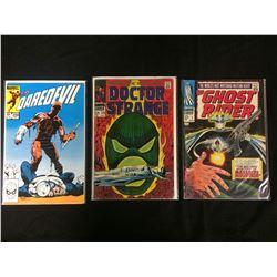 MARVEL COMIC BOOK LOT (DAREDEVIL #200, DR. STRANGE #173, GHOST RIDER #7)