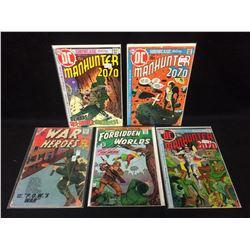 MANHUNTER, WAR HEROES, FORBIDDEN WORLDS COMIC BOOK LOT