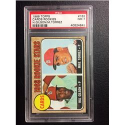 1968 TOPPS #162 CARDS ROOKIES H.GILSON/ M.TORREZ (NM 7) PSA