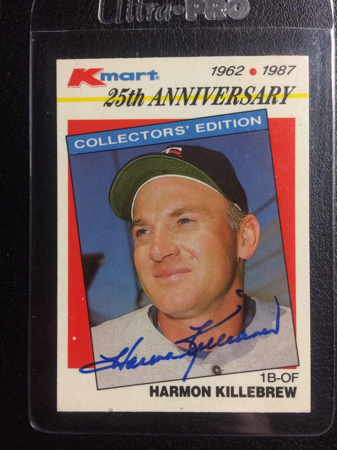 Autographed 1987 Topps Kmart Harmon Killebrew 25th Anniversary