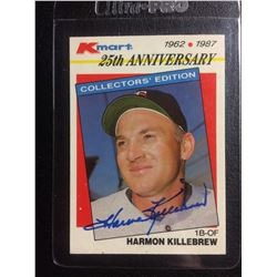 AUTOGRAPHED 1987 Topps Kmart Harmon Killebrew (25TH ANNIVERSARY)