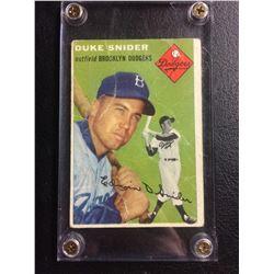 1954 Topps Duke Snider Baseball Card #32 Brooklyn Dodgers HOF