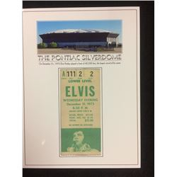 ELVIS PRESLEY CONCERT TICKET (NEW YEARS EVE 1975) PONTIAC SILVERDOME