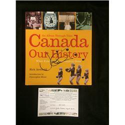JUSTIN TRUDEAU AUTOGRAPHED CANADA OUR HISTORY BOOK W/ COA