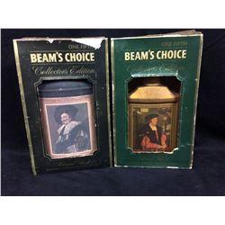 BEAM'S CHOICE KENTUCKY BOURBON WHISKEY DECANTERS RENAISSANCE PERIOD LOT
