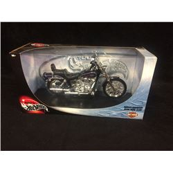 HOT WHEELS HARLEY DAVIDSON DYNA-WIDE GLIDE TOY MOTORCYCLE (IN BOX)