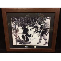 "GERRY CHEEVERS AUTOGRAPHED 30"" X 30"" FRAMED PHOTO W/ COA"
