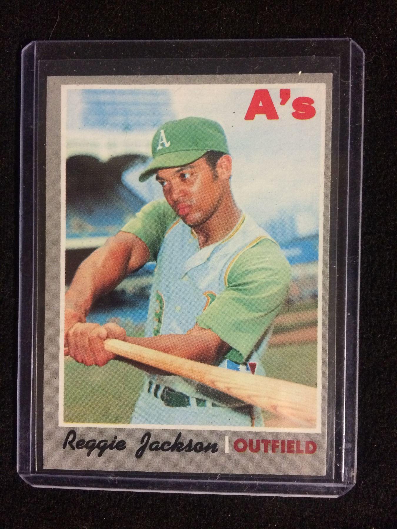 1970 Topps Reggie Jackson Oakland Athletics 140 Baseball Card