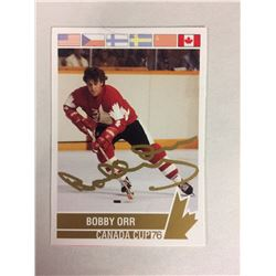 Bobby Orr Signed Authentic Autographed Canada Cup '76 Card