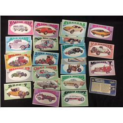 1970 GEORGE BARRIS WAY OUT WHEELS CARD LOT