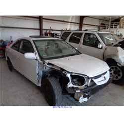 2002 - HONDA CIVIC// SALVAGE TITLE