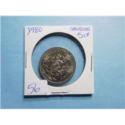 1980 FIFTY CENT PIECE