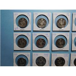 LOT OF 15 FIFTY CENT PIECES  1978 x 15