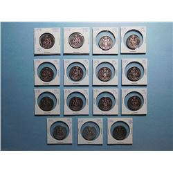 LOT OF 15 FIFTY CENT PIECES  1978 x 14, 1980 x 1