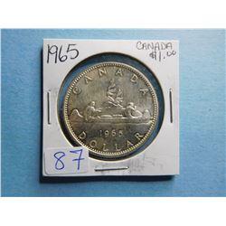 1965 CANADA SILVER DOLLAR COIN