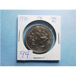1970 MANITOBA DOLLAR CROCUS COIN