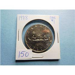 1978 CANADA DOLLAR COIN