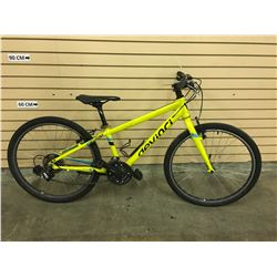 YELLOW DEVINCI AZKABAN KID'S HYBRID MOUNTAIN BIKE