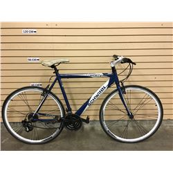 BLUE AND WHITE SCHWINN VARSITY HYBRID ROAD BIKE