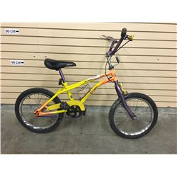 ORANGE YELLOW SHIFT'N GEARS KID'S BMX BIKE