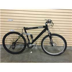 BLACK FRINGE FULL SUSPENSION MOUNTAIN BIKE WITH FRONT DISK BRAKE
