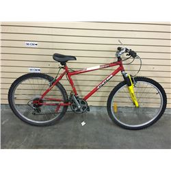 RED CCM HEAT FRONT SUSPENSION MOUNTAIN BIKE
