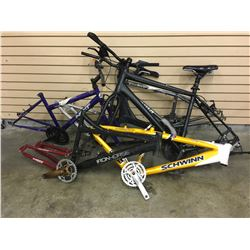 6 ASSORTED MOUNTAIN BIKE FRAMES
