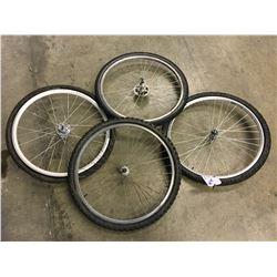 4 BIKE TIRES AND WHEELS