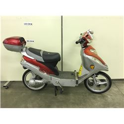ORANGE AND GREY SCOOTEREQ 500ZX ELECTRIC SCOOTER, CONDITION UNKNOWN, NO KEY