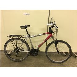 RED AND GREY SUPERCYCLE FRONT SUSPENSION MOUNTAIN BIKE
