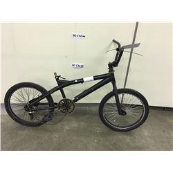 BLACK NO NAME BMX BIKE, NO BRAKES, NO SEAT