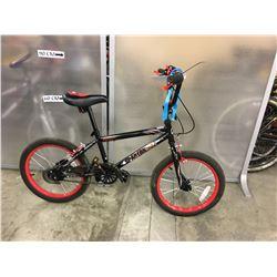 BLACK AVIGO SPARTAN BMX BIKE
