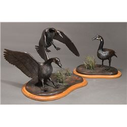 Wolf, Bob - Set of Two Bronzes - The Protector