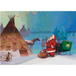 Echohawk, Brummett - Santa and Teepee