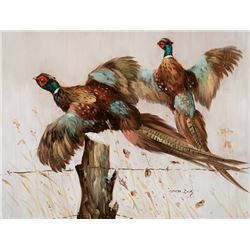 Dick, George - Two Flying Pheasants