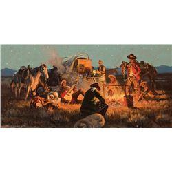 Hampton, John - Campfire - Cowboys