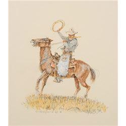 Wieghorst, Olaf - Cowboy on Rearing Horse